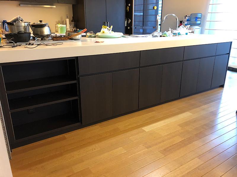 システムキッチンのオーダー家具を納品しました!お客様のお部屋-A様邸-